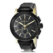 mens gucci watches the watch gallery gucci g chrono black yellow pvd quartz mens watch ya101203