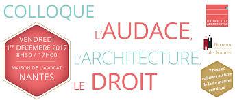 l audace l architecture le droit