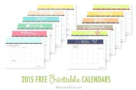 Free Printable Calendar 2015 By Month 2015 Calendar By Month Template Gulflifa Co