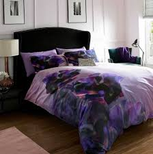 purple and grey duvet cover