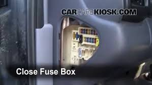 interior fuse box location 1998 2003 dodge durango 1999 dodge secure the cover and test component