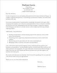 Medical Receptionist Cover Letter Medical Receptionist Cover Letter Sample Cover Letter Receptionist