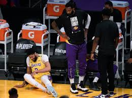 Pelinka believes there's 'level of pride' in keeping players lakers developed around like caruso, tht. Nba Anthony Davis Leaves Game 6 Early With Groin Injury