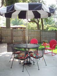 m terrific home patio furniture ideas for innovative outdoor cafe plan decors showing off modern black metal round dining table with stand umbrella in black and white patio furniture