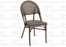 commercial outdoor dining furniture. Outdoor Dining Chairs Black Faux Bamboo Textilene Commercial Restaurant Chair Furniture