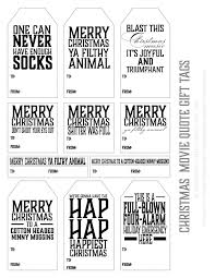 Christmas Movie Quote Holiday Gift Tags Melaniewinters