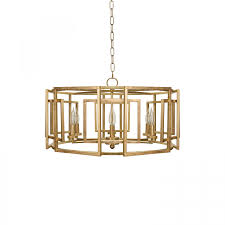 more views mckenzie motif drum chandelier in gold leaf