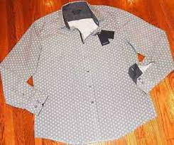 Details About Bugatchi Uomo Mens Authentic Brand New Shaped Fit Dress Shirt Size Xxl Nwt