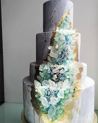 Modern Geode Wedding Cake Oh Best Day Ever