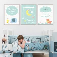 >modern kawaii animals hippo moon quotes canvas a4 art print poster  modern kawaii animals hippo moon quotes canvas a4 art print poster nursery wall picture kids baby room decor painting no frame in painting calligraphy