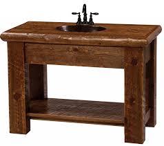 Pine Bathroom Cabinet Modern Rustic Vanity Made Of Circle Sawn Pine
