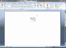 inserting an equation for a test statistic in microsoft word