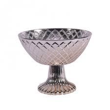 silver mercury pedestal bowl 11 8cm