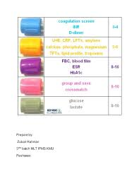 Blood Test Tube Color Chart Blood Collection Tube With Color Heads