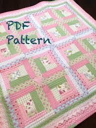 Chic Baby Girl Quilt Pattern by Christine J Designs- Enjoy ... & Chic Baby Girl Quilt Pattern Modern Log by ChristineJDesigns Adamdwight.com