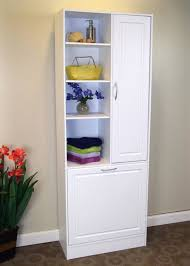 linen cabinet w laundry hamper interior design nousdecor pertaining to bathroom cabinet hamper