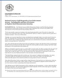 National Lawyers Guild Responds To Hit And Run Of Protester At