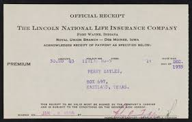See reviews, photos, directions, phone numbers and more for lincoln national life insurance locations in harlingen, tx. Receipts For Cleaning A Fur Coat And Payment To The Lincoln National Life Insurance Company The Portal To Texas History