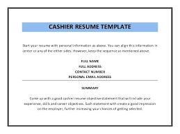 Cashier Skills For Resume Foodcity Me