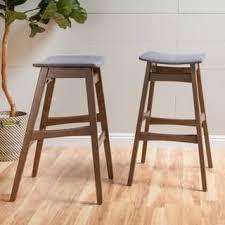 mid century modern bar stools. Emmaline 30-inch Mid-Century Fabric Bar Stool (Set Of 2) By Mid Century Modern Stools T