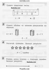 ГДЗ по математике для класса Микулина Г Г контрольная работа   ГДЗ Учебник по математике 1 класс контрольные работы Микулина Г Г Решебник контрольная работа 5 вариант 2