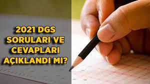 DGS soruları ve cevapları açıklandı mı? 2021 DGS soru ve cevap anahtarı PDF  ne zaman açıklanacak? - Timeturk Haber