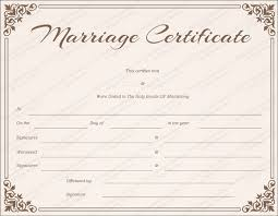 Blank Marriage Certificate Filename My College Scout