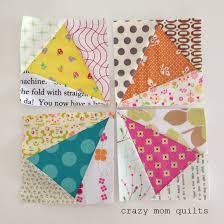 crazy mom quilts: paper piecing tips from a frugal girl & Here are my 4 block sections. Once sewn together, it will make a 10