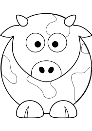 Small Picture Cow Coloring Pages Printable of Cow Coloring Pages 12433