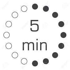 The 5 Minutes Stopwatch Vector Icon Digital Timer Clock And