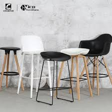 Kitchen Modern Design Wooden Legs Pp Plastic Seat High Bar Chair Buy Kitchen Bar Chairluxury Bar Chairsbar Chair Industrial Product On Alibabacom