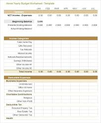 Excel Expenses Template Monthly Budgeting Project Budget