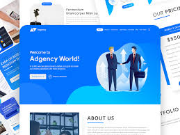 Adgency Web Template User Interface Design By Jahedul Islam
