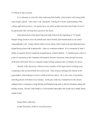 Sample Letter Of Recommendation For Student From Family Friend ...