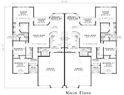 Duplex House Plan For The Small Narrow Lot  67718MG Floor Plans For Duplexes