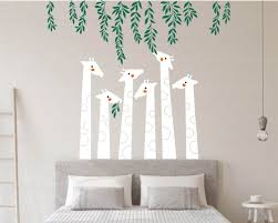 giraffe with vines wall decal baby