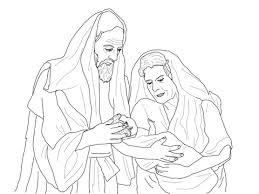 Abraham Sara En Hun Net Geboren Zon Isaak Kleurplaat Gratis
