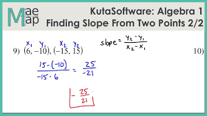 kuta algebra 1 finding slope from two points part 2