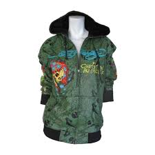 audigier for ed hardy hooded leather embossed jacket for