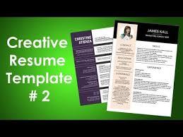 How To Create Creative Resume Design In Microsoft Word Clean Cv