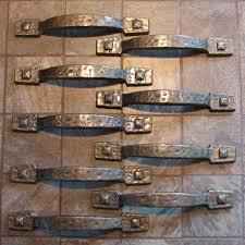 rustic drawer pulls. vintage hammered rustic cabinet drawer pulls handles set of 9 pinterest