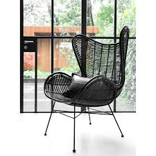 rattan egg chair in two colours