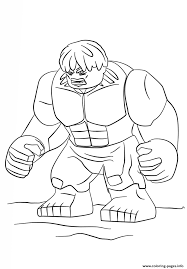 Print Lego Hulk Coloring Pages Cam Pinterest