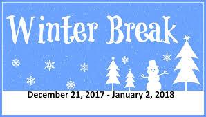 Image result for winter break Dec 21 - jan 2 2018