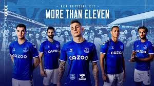 The world's largest online football store for football boots, football shirts & kits, football equipment, goalkeeper gloves, base layer & more. Instant Classic Everton S New 2020 21 Home Kit Becomes Their Fastest Ever Selling Shirt Fourfourtwo