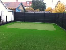 putting green and lawn
