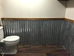 corrugated sheet metal bathroom corrugated tin chair rail design ideas home design ideas 2018