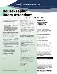 Sample Resume Hotel Housekeeping Room Attendant New Certificate