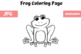 Educational fun kids coloring pages and preschool skills worksheets. Coloring Book Page For Kids Frog Graphic By Mybeautifulfiles Creative Fabrica