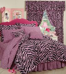 pink zebra print bedding set